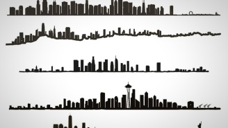 This Wall Art Of City Skylines Is Perfect For Your Man Cave Or Home Office