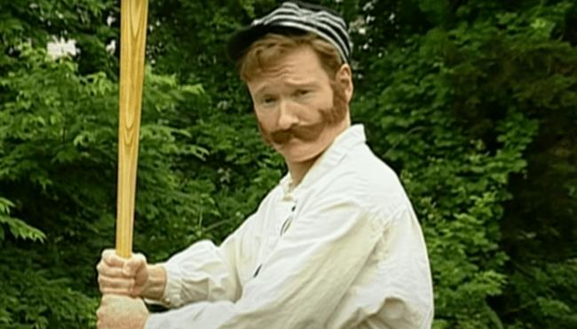 Conan O' Brien old time baseball