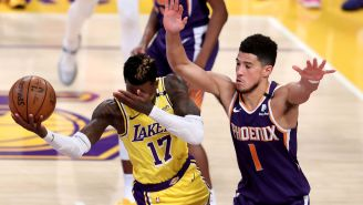 Move Over, LeBron, Dennis Schroder Is Now The Lakers' Best Flopper After Getting Devin Booker Ejected