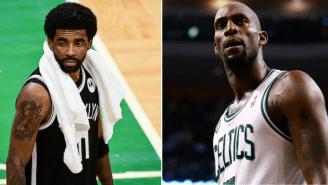 Kevin Garnett Reacts To Kyrie Irving Disrespectfully Stomping On Celtics' Logo