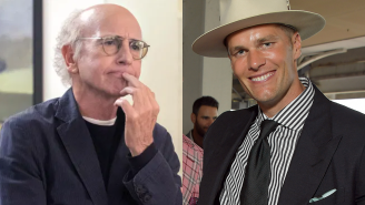Larry David Had The Most Larry David Reaction Possible After Running Into Tom Brady In An Elevator At The Kentucky Derby