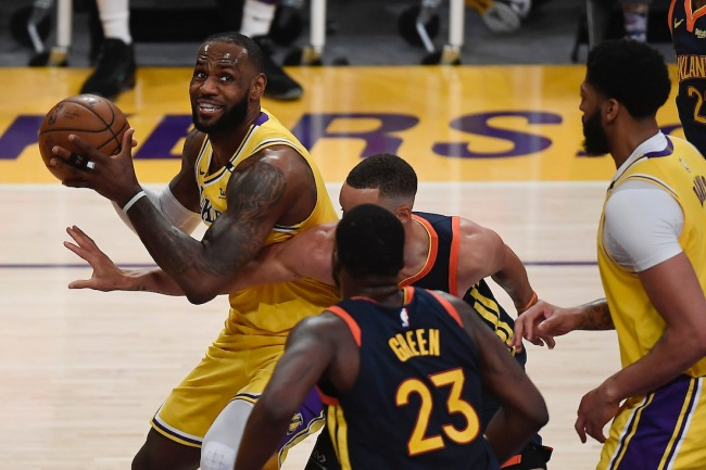 LeBron James claims trash-talk from Warriors bench players led him to take over the NBA Playoffs' Play-In Game