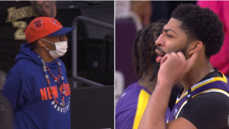 Anthony Davis And LeBron James Appear To Mock Spike Lee After The Knicks' Heartbreaking Loss To The Lakers
