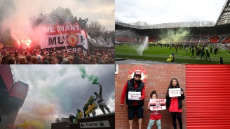 Wild Scenes Unfold In Manchester As Protestors Break Into United's Stadium – Liverpool Game Postponed