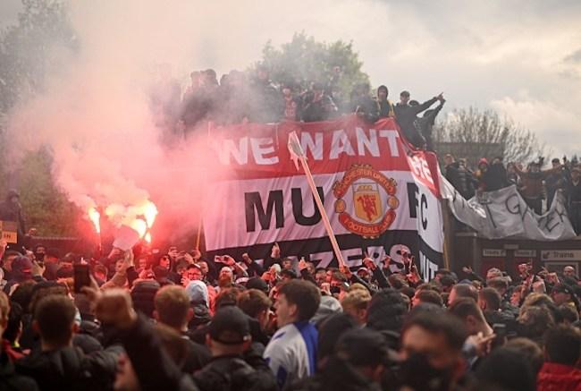 manchester united protesr