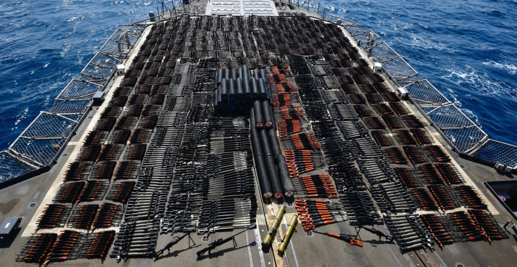 US Navy and Coast Guard seize thousands of weapons