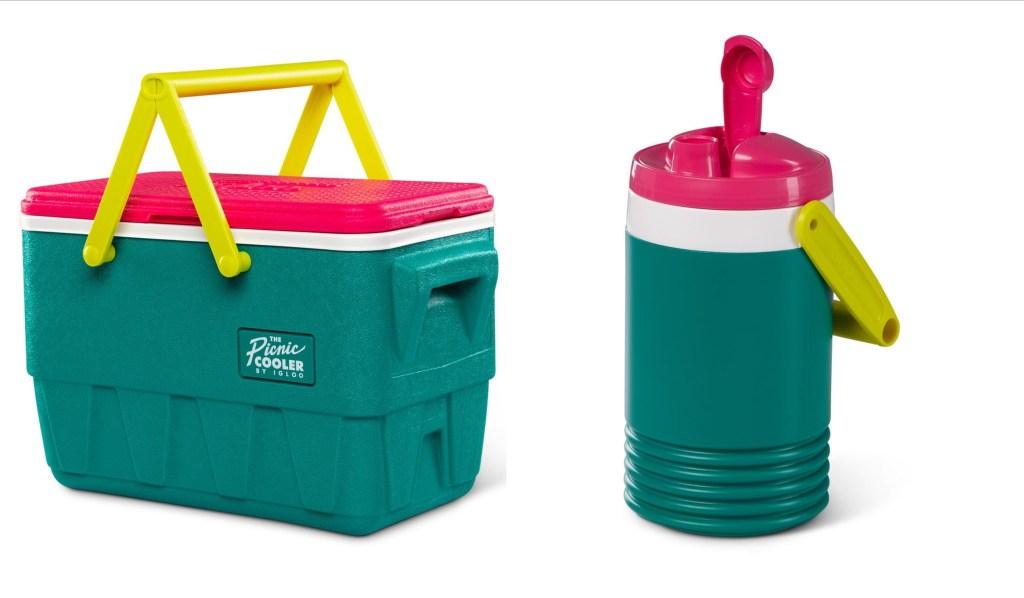 Retro Igloo Picnic Cooler and Half Gallon Jug