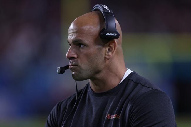Robert Saleh, hired this NFL offseason as the next head coach of the New York Jets, admits he briefly forgot his job title for a second