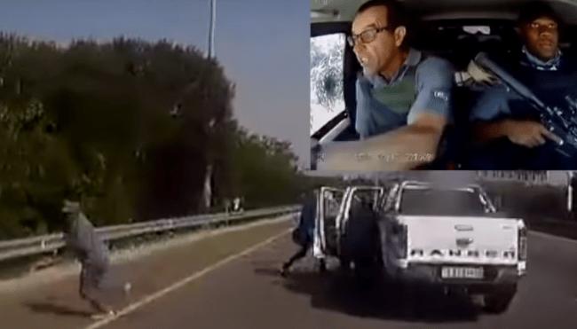 south africa armored car robbery dashcam