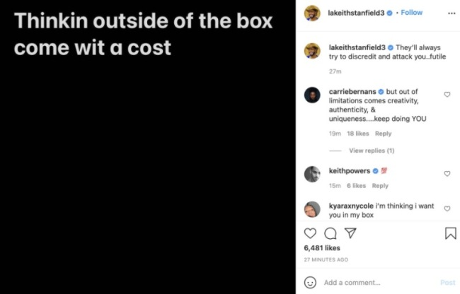 stanfield IG apology