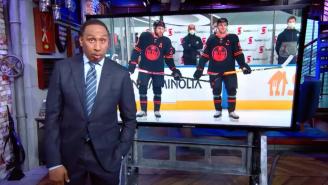 Famously Diehard Hockey Fan Stephen A. Smith Goes Berserk On The Edmonton Oilers For Getting Swept