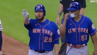 The Childlike Enthusiasm Of Mets Pitcher Tommy Hunter Following First MLB Hit Is Why Sports Are The Best