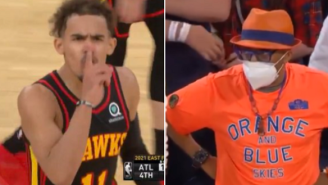 Knicks Fans Went From Loudly Chanting 'F*** Trae Young' To Being Dead Silent After Trae Young Hit Game-Winner And Mocked Them