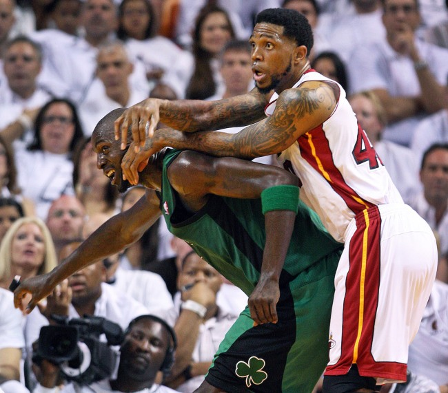 Former NBA player Udonis Haslem slams Kevin Garnett for being a fake tough guy who just spewed trash-talk to upset opponents