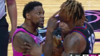 40-Year-Old Udonis Haslem Ejected 3 Minutes Into His First Game Of The Season For Miami Heat After Putting Finger In Dwight Howard's Face