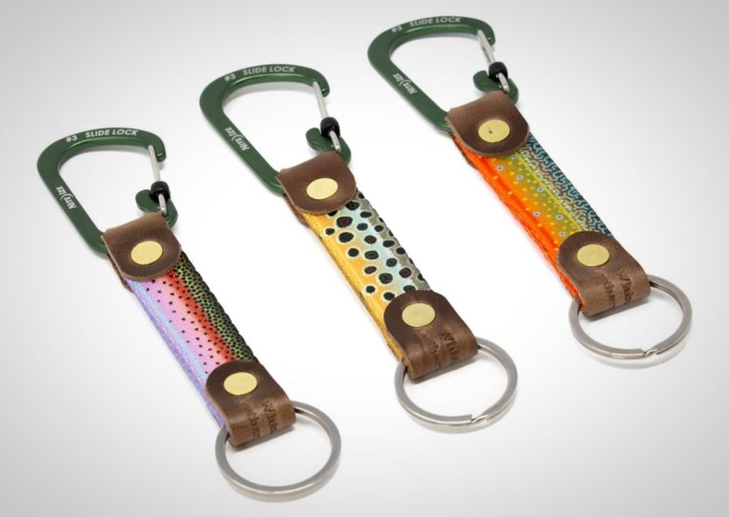 keychains fishing whiskey leatherworks trout