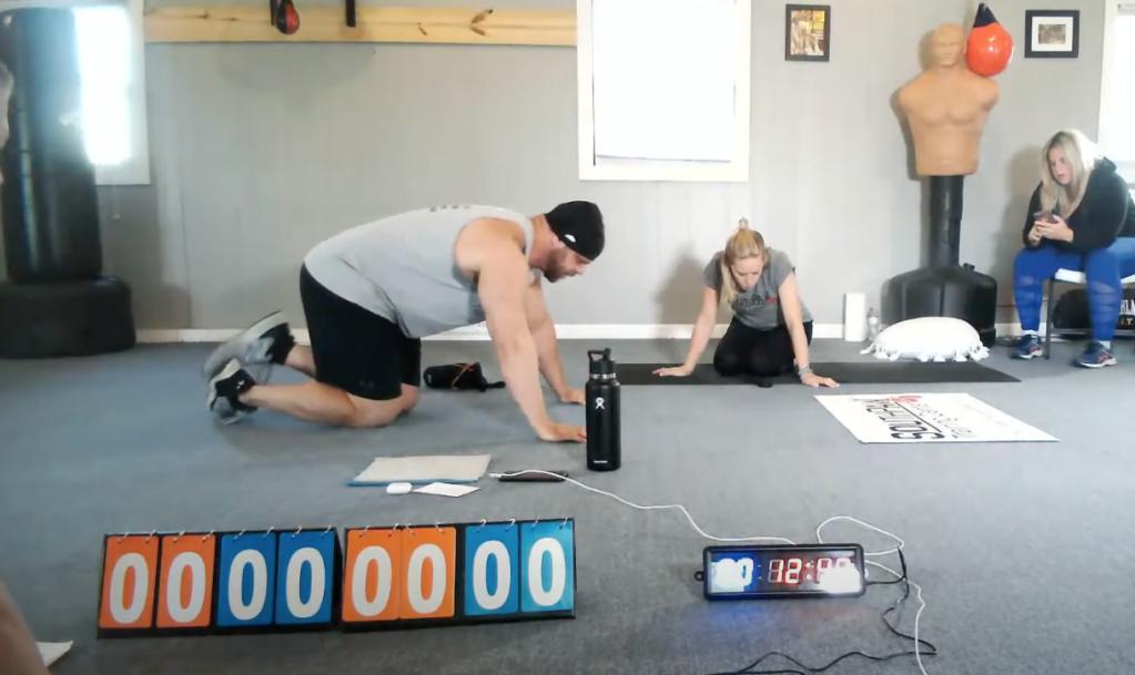 TShane Johnson Guinness world record most pushups one hour