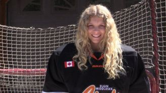 Taya Currie Became The First Female Drafted Into The Ontario Hockey League And She Is A Brick Wall