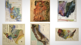 These Early 1900s Relief Maps Of The USA Are Perfect For Your Man Cave Or Bachelor Pad