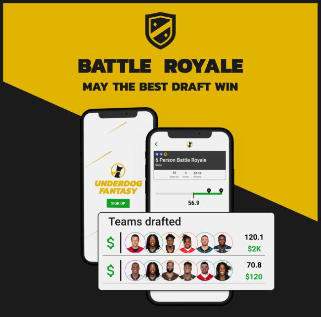 Battle Royale Underdog Fantasy