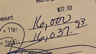 Customer Leaves Server $16,000 Tip On $37 Bill, Bar Splits It Among Employees, People Are Mad