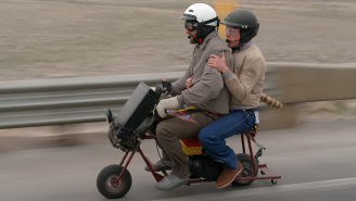 Two 'Dumb And Dumber' Fans Rode A Minibike For Almost 400 Miles To Recreate The Movie's Road Trip In The Rockies