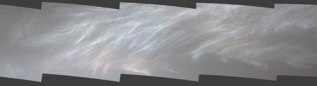 Mount Sharp Clouds Mars