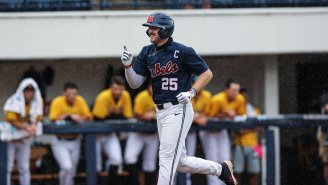 Ole Miss Baseball Senior Tim Elko Can't Stop Hitting Grand Slams ON ONE KNEE While Playing With A FULLY TORN ACL
