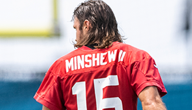 Gardner Minshew cuts hair mullet