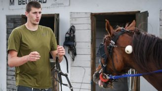 Nikola Jokic Is Back In Serbia Riding A Horse Drawn-Buggy To Relax After Not Missing A Game In 2020/21