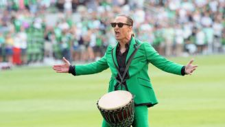 Matthew McConaughey And His Bongo Drum Had 20,000 Austin FC Fans ROCKING Before The Club's Home Opener
