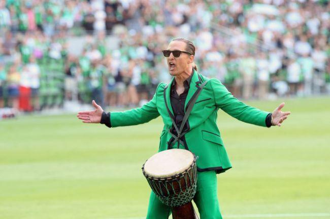 Matthew McConaughey Austin FC Drum