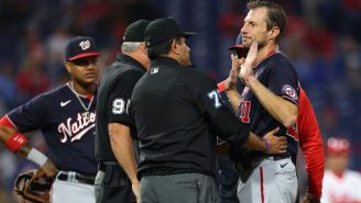 Max Scherzer Loses His Mind After Repeated Sticky Substance Checks, Joe Girardi Challenges Him To A Fight And Gets Tossed