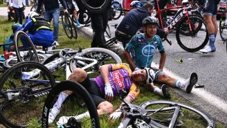 A Spectator Is On The Run From Authorities After Causing A Massive, Gory Crash At The Tour De France