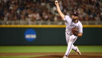 Mississippi State Pitcher Waving Goodbye To The Ball After Giving Up A Home Run Is Baseball Gold