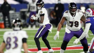 Lamar Jackson's First Pass At OTAs Was An Absolute Duck As The Ravens Try To Develop Him As An Under-Center Passer