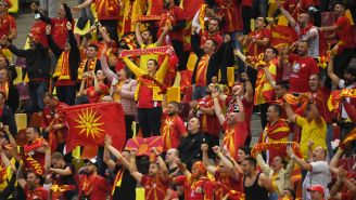 North Macedonia Fans Went Buck Wild In The Streets Ahead Of Their Country's First-Ever European Championship Match