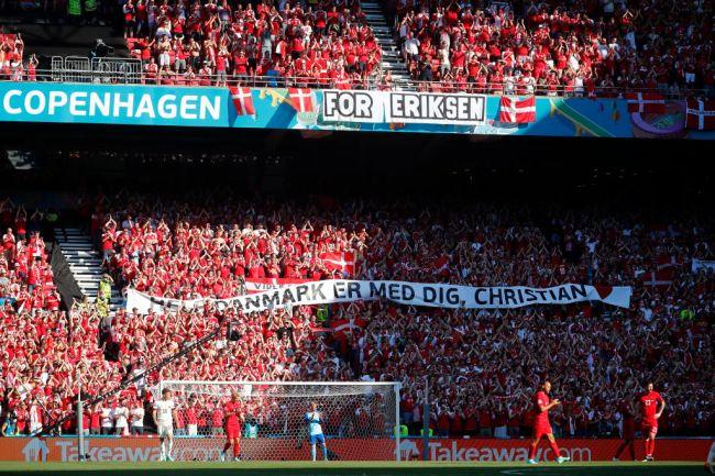 Denmark Fans Belgium Christian Eriksen