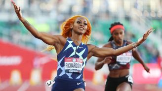 American Sprinter Sha'Carri Richardson Absolutely Dusted Her 100-Meter Olympic Trial Heat With One Shoe Untied