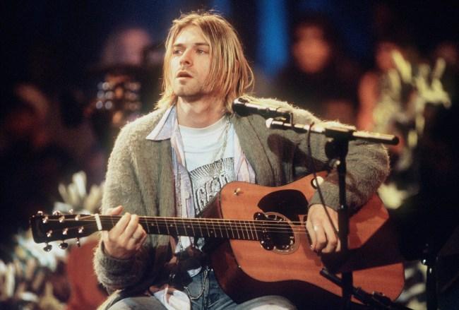"Nirvana rocker Kurt Cobain self-drawn doodle, labeled as ""Kurdt Kobain Rock Star,"" sells for over $280,000 in music auction."