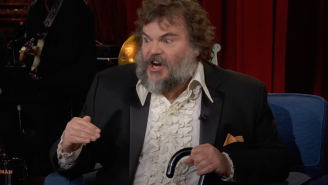 Jack Black Needed A Cane On The Last Episode Of 'Conan' After His Planned Tribute Went Hilariously Awry