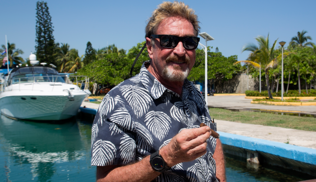 John McAfee Instagram Account Disappears Following Cryptic Post