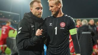 Denmark Keeper Kasper Schmeichel Has Seen Christian Eriksen: 'Damn Nice To See Him Smile'
