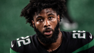 Jets RB La'Mical Perine Attempting To Shotgun A Beer Is One Of The Most Pathetic Things You'll Ever Watch