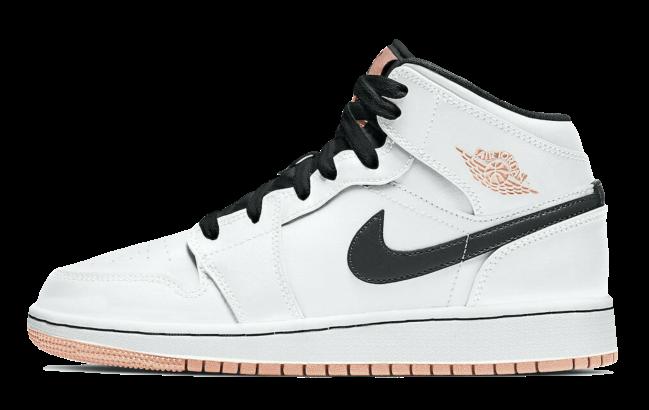 Nike Air Jordan 1 Mid White Arctic Orange