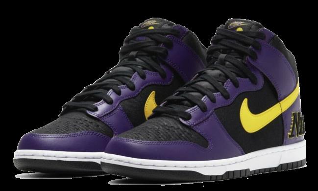 Nike Dunk High EMB Lakers