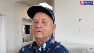 Bill Murray Belted 'Take Me Out To The Ballgame' In Front Of The First Full-Capacity Crowd At Wrigley Field In 21 Months And It Was Epic