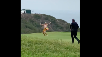 Streaker At U.S. Open Goes Into Fairway, Hits A Few Shots, Gets Taken Out By Security Guard On Cart
