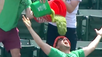 Orioles Fans Dumped Buckets Of Relish On Their Heads After Relish Won Its First Hot Dog Race Of 2021
