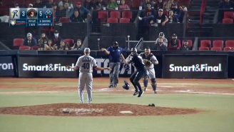 MASSIVE Brawl Ensues In Mexican Baseball League After Batter Gets Hit By Pitch, Attacks Pitcher With His Bat AND Helmet